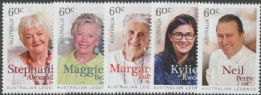 AUS SG4112-6 Australian Legends (18th Series): Australian legends of Cooking set of 5